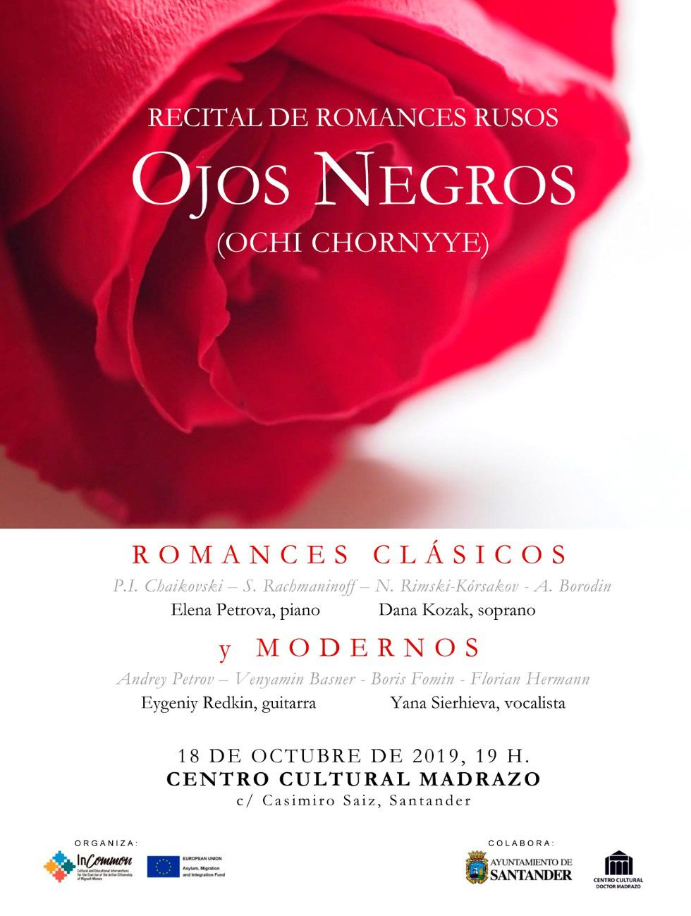 OJOS NEGROS, CLASSICAL AND CONTEMPORARY RUSSIAN ROMANCES